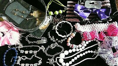 Joblot Of Older Childrens Jewellery And Hair Accessories