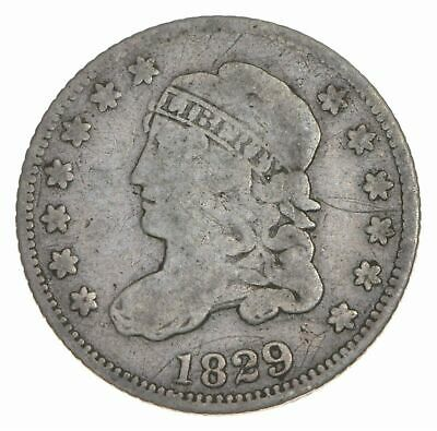 Rare - 1829 Capped Bust Half Dime - Tough to Find - US Early Silver Coin