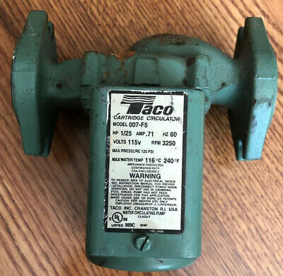 Taco Cartridge Circulator Pump 007-F5 Untested R56