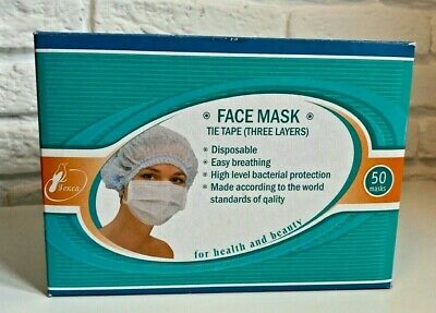 3-ply Virus Protection Disposable Surgical Face Mask - 50 Pieces Safe Mask