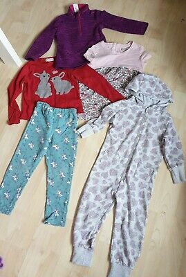 Girls Age 3 - 4 Bundle. All in one. Leggings, Next Dress, H & M Rabbit Jumper.
