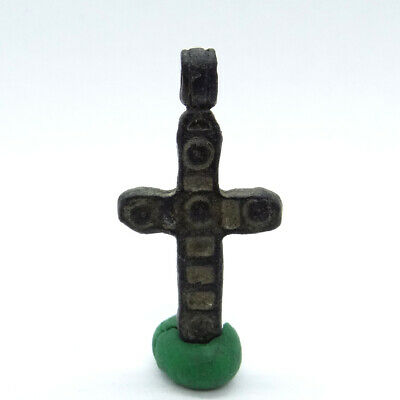 Roman Ancient Artifact Bronze Cross Double Sides