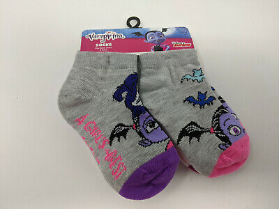Disney Girls Vintage Minnie Mouse Ankle No Show Socks 5 Pairs 2T-4T