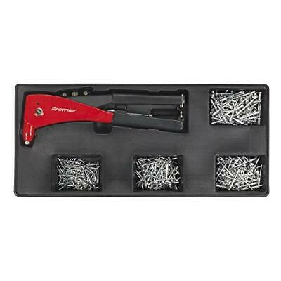 Sealey Tool Tray with Riveter & 400 Assorted Rivet Set - TBT15