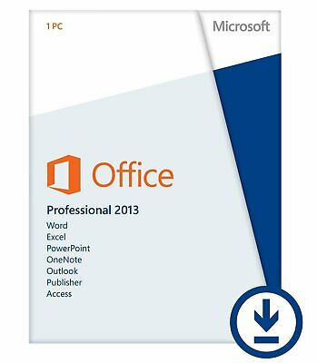 Microsoft Office 2013 Professional 32/64 Bit Retail for 2 PC w. ORIG MS USB