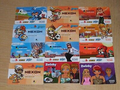 Game Cards   12 different new collectible gift cards