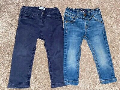 Baby Boys Trousers Jeans Navy Chino Bundle Next Mayoral Age 9-12 Months