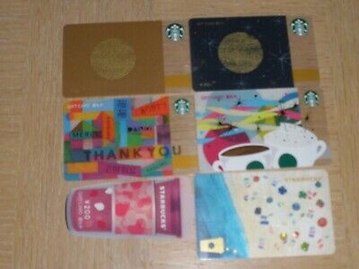 Starbucks China   6 different new and used collectible gift cards