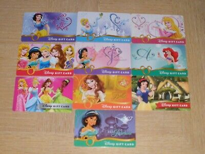 Disney   10 different new and used collectible gift cards