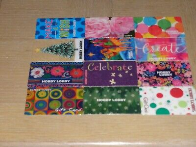 Hobby Lobby   12 different new and used collectible gift cards