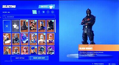 Season 1 Black Night Fortnite Account With V-bucks & Save The World (READ DISC)