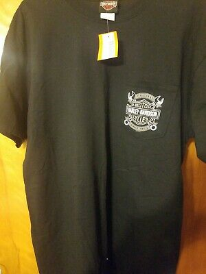 S//S Made Of 100/% Cotton R002175 Men/'s Harley-Davidson Words T-Shirt Is Black