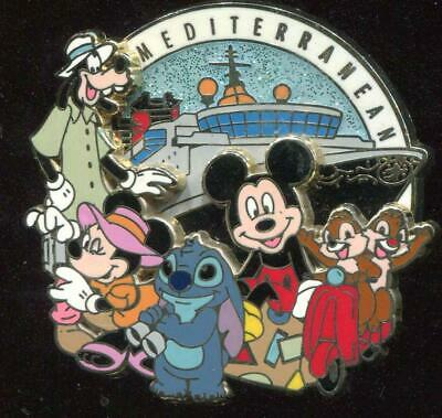 Mediterranean Mickey and Friends Stitch Minnie Goofy Chip Dale Disney Pin 78143