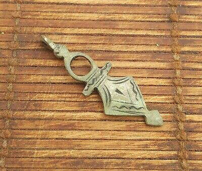 Rare Antique BRONZE Celtic Viking Handcrafted  Amulet Small Axe AX Pendant