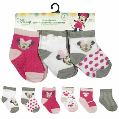 Mickey Mouse or Minnie Mouse 2PK Bootie Socks 0-12 Months Baby Shower