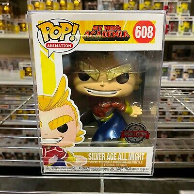 "Funko Pop : Special Edition Exclusive : Silver Age All Might Metallic #608 ""MINT"