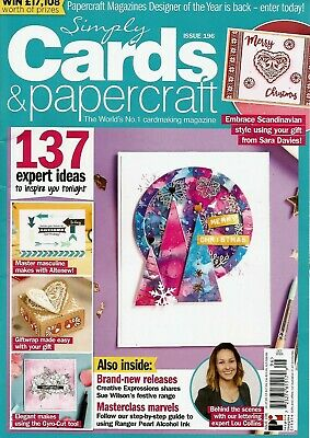 Simply Cards & Papercraft Magazine Issue 196.   2019  Free Stamps & Die