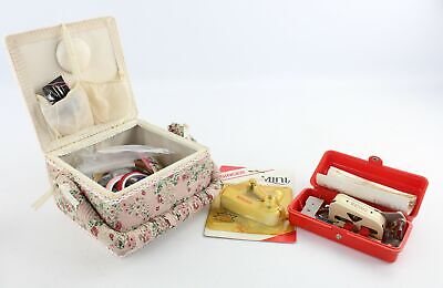 Job Lot Of Vintage HABERDASHERY Inc Sewing Box, Singer, Thimbles, Silver Plate