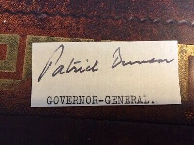 SIR PATRICK DUNCAN 6th GOVERNOR GENERAL SOUTH AFRICA AUTOGRAPH