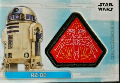 R2-D2   Pc-X   Topps Star Wars The Rise Of Skywalker Patch Cards