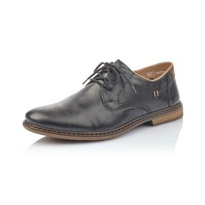 RIEKER EXTRA WIDE FIT LEATHER CLASSIC LACE UP SHOES Black atvDU