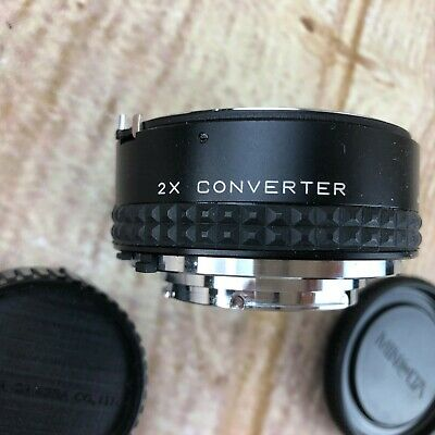 FOCAL MC 2x Converter Lens for MINOLTA MD Cameras, with Caps and Case 20-06-76