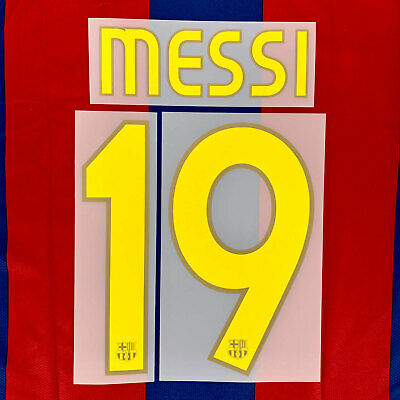 2007-08 Barcelona Player Issue Name Set #19 MESSI Jersey