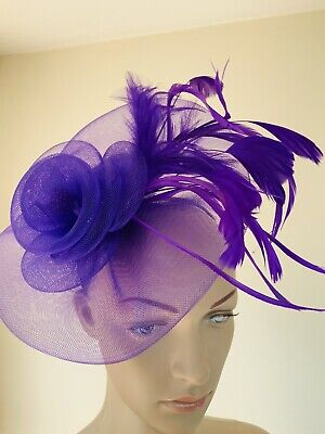 Cadbury Purple Headband Fascinator Wedding Ladies Race Day Accessories