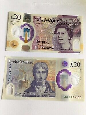 New Polymer £20 Pound Note - The Very First Notes Issued To The Public