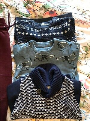 Bundle Of Boys Clothes  3-4yrs Jumpers T-shirt's Adjustable Waist Trousers