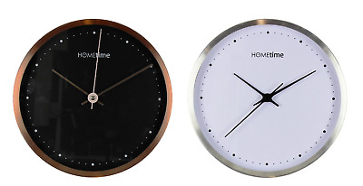 Hometime By Widdop Copper or Silver Finish Wall Clock Silent Clock Office Modern