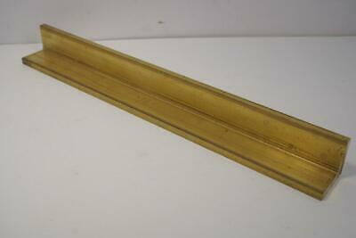 "SOLID Brass 1-1/4"" x 1-1/4"" x 12"" Angle Stock. 1/4"" thick  Live Steam Machinists"