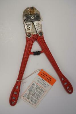 """1950's New Old Stock HK Porter 12"""" Bolt Cutter  No12  3/16"""" Capacity. USA Made."""