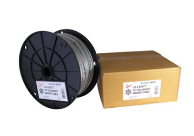 1/8 X 500 FT, 7X19 Galvanized Aircraft Cable