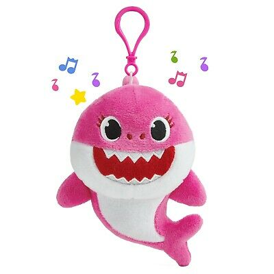 Pinkfong Baby Shark Singing Plush Clip Pink Mommy Shark, NEW