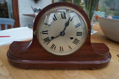 Gustav Becker time strike mantel clock.SEE VIDEO.