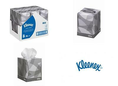 White 2 ply 12 cubes x 88 Sheets Kleenex 8834 Facial Tissue Cube
