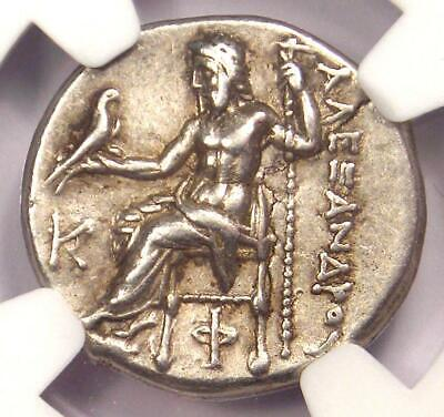 Alexander the Great III AR Drachm Coin 336 BC - Certified NGC XF Condition (EF)!