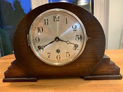 Wooden Mantle Clock with Westminster chime, Features night Silent lever.