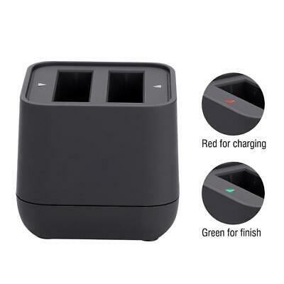 Action Camera Battery Charger Dual Slot USB Charging Black for Insta360 Camera