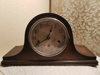 Antique German HALLER Napoleon Hat Wooden Chiming Mantel Clock