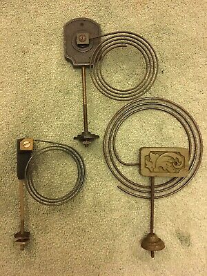 3 clock chimes/gongs with metal coil and fixing bolt.- Clock spares parts