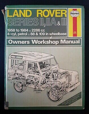 IIA /& III 88 /& 109 Haynes Manual 1958-85 Wheelbase Land Rover Series II