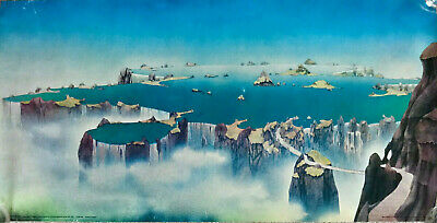 Rare Vintage Roger Dean Close To The Edge Poster Original (100x50cm) YES Album