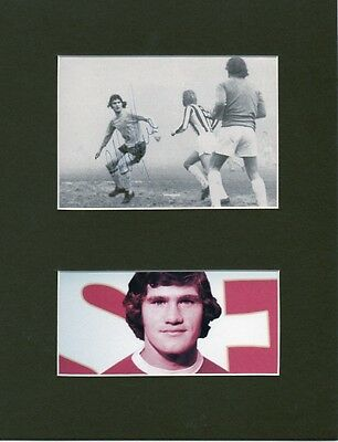 PAT RICE Signed 10x8 Picture Display ARSENAL FC Legend COA