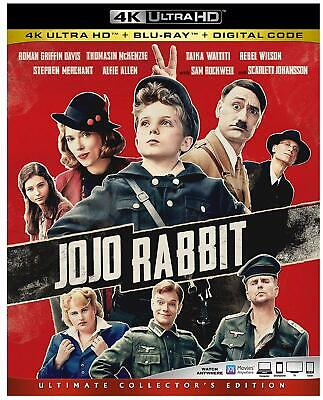 Jojo Rabbit 4k + Blu-ray (No Digital) with Sleeve Cover Untouched Never played