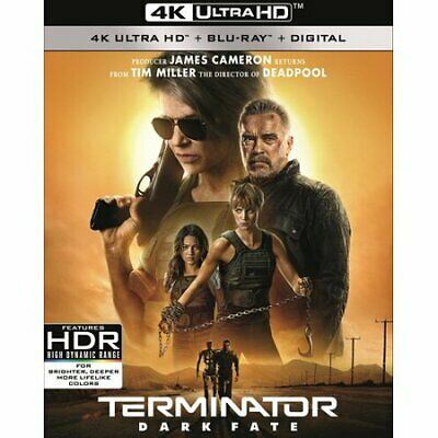 Terminator Dark Fate 4K UHD + Blu-ray (No Digital Included ) with sleeves cover