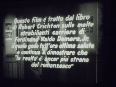 Film 16mm Il grande impostore 1961 Tony Curtis Karl Malden incompleto vedi descr