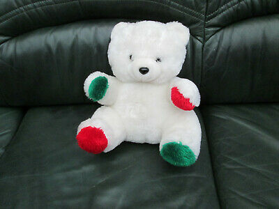 Peluche  Ourson blanc taille 30 cm Neuf