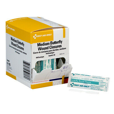 Butterfly Wound Closures, Medium, 100 Per Box